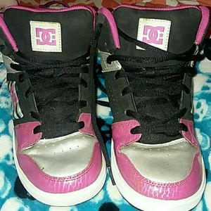 DC High Tops sz 6.5 fun and funky